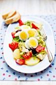 Potato and vegetable salad with egg (Create, Greece)