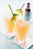 Singapore Sling cocktails