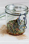 Chermoula (oriental spice paste) in a jar