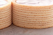 Baumkuchen (German layer cakes) with cream filling