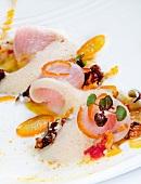 Citrus Hamachi Fish with a Foam Sauce