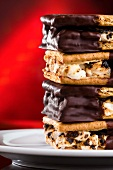 Stacked Chocolate Dipped S'mores