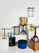 An assortment of distinctive occasional tables
