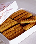Gingerbread biscuits in box