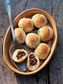 Stuffed potato dumplings