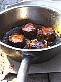 Pork knuckle crepinettes