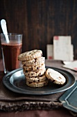 A stack of chestnut biscuits