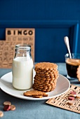 Biscuits and milk with a bingo game