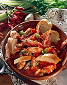 Fish stew with prawns and celery (Portugal)