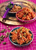 Carrot halwa with pistachios