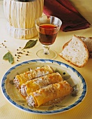 Cannelloni with a minced meat and ricotta filling