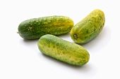 Three gherkins