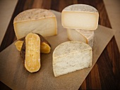 Assorted Spanish Cheeses; Halved