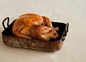 Whole Roast Turkey in a Roasting Pan