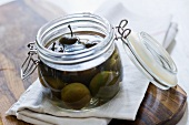 Greengages preserved in schnapps