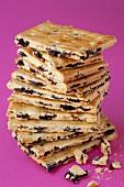 A stack of Garibaldi biscuits