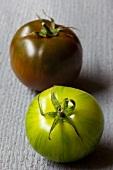 Two heirloom tomatoes