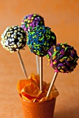Various cake pops for a child's birthday party