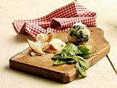 Spinach dumplings with ingredients