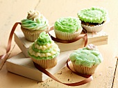 Cupcakes with different decorations
