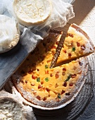 Cheese cake with candied fruits