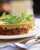 Minced lamb with basil confit (France)