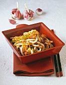 Grilled udon noodles (Japan)