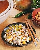 Swai nhoam di hu (mango salad with squid, Cambodia)