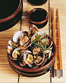 Venus clams with sake (Japan)
