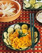 Cucumber salad with onions (Burma)