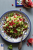 Couscous with pomegranate seeds and mint