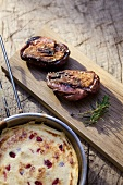 Duck breast with shredded pancake