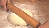Rolling out yeast dough