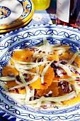 Orangensalat mit Zwiebel und Fenchel