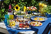 Summer buffet in garden
