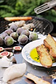 Figs, monk fish and grilled white bread