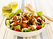 Greek salad with mushrooms