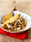 Mushrooms and pork omelette (Thailand)