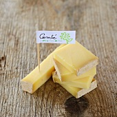 A piece of Comté cheese