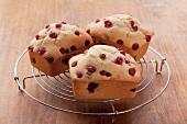 Mini redcurrant cakes