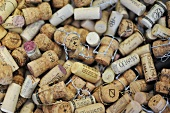 Used wine and champagne corks
