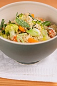 Vegetable couscous with mint