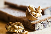 Walnut bread and walnuts