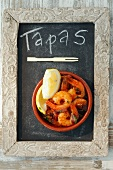 Gambas al ajillo (garlic prawns, Spain)