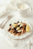 Smoked trout with prunes and creamy horseradish (Christmas)