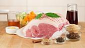 Ingredients for roast ham