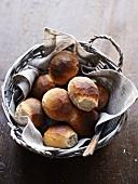 Fresh rye-bread rolls