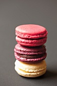 A stack of three macaroons
