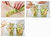 Eingelegte Senfgurken zubereiten