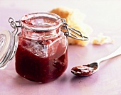 A jar of raspberry and pepper preserve